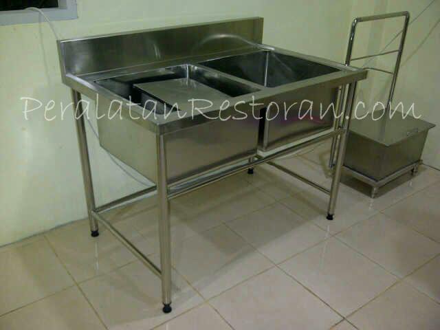 Peralatan Dapur Restoran Double Sink--Peralatan Dapur Restoran
