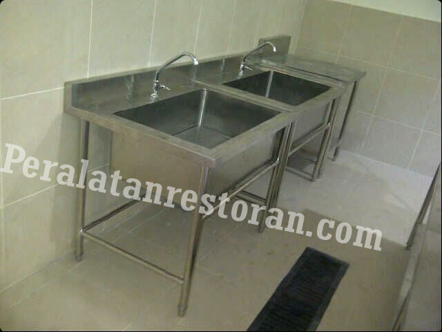 single sink bowl besar peralatan dapur restoran